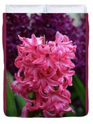 Pretty Hot Pink Hyacinth Flower Blossom Blooming Duvet Cover