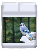 Pretty In Blue Jay Duvet Cover