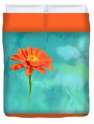 Pretty In Orange Duvet Cover