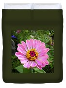 Pretty In Pink Zinnia Duvet Cover