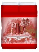 Pretty In Red Duvet Cover