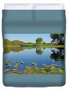 Tranquil Lake In Florida Duvet Cover