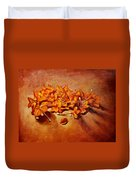 Pretty Little Orange Flowers - Kankaambaram Duvet Cover