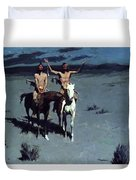 Pretty Mother Of The Night White Otter Is No Longer A Boy 1900 Duvet Cover