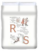 Pretty Name Abc R And S Duvet Cover