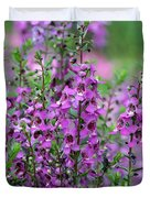 Pretty Pink And Purple Flowers Duvet Cover
