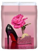 Pretty Pink Bling Office Accessories Duvet Cover