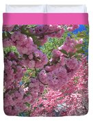 Pretty Pink Blossoms Duvet Cover