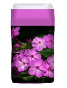 Pretty Pink Phlox  Duvet Cover