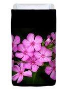Pretty Pink Prairie Phlox Duvet Cover by Lori Frisch