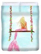 Pretty Pink Swing Duvet Cover