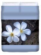 Pretty Plumeria Duvet Cover