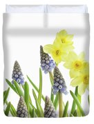 Pretty Spring Flowers All In A Row Duvet Cover