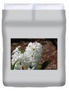 Pretty White Hyacinth Flower Blossom Flowering Duvet Cover