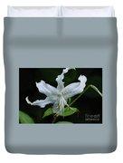 Pretty White Stargazer Lily Flower Blossom Duvet Cover