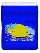 Pretty Yellow Fish Duvet Cover