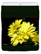 Pretty Yellow Flowers Duvet Cover