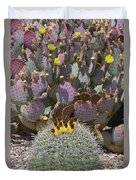 Prickly Pear Blooms Duvet Cover