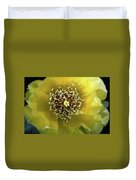 Prickly Pear Cactus Flower Duvet Cover