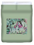 Prickly Pear Cactus Fruits Duvet Cover