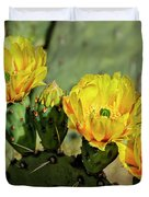 Prickly Pear Flowers H42 Duvet Cover