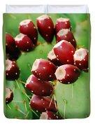 Prickly Pear Fruit Duvet Cover