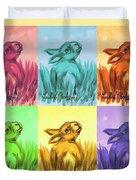 Primary Bunnies Duvet Cover