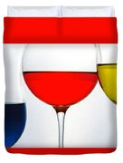 Primary Colors In Glass Duvet Cover