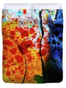 Primary Crystal Abstract Duvet Cover