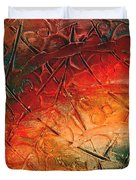 Primitive Abstract 1 By Rafi Talby Duvet Cover