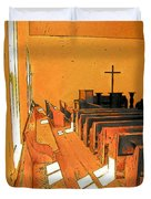 Primitive Church - Sunday Morning Duvet Cover