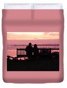Evening Hill Sunset Duvet Cover