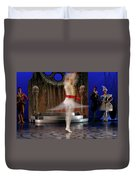 Prince Charming In Blurred Spin While Dancing In Ballet Jorgen P Duvet Cover