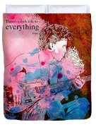 Prince Quote. There's A Dark Side To Everything Duvet Cover