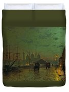 Prince's Dock Hull Duvet Cover by John Atkinson Grimshaw