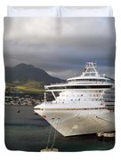Princess Emerald Docked At Barbados Duvet Cover