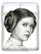 Princess Leia Watercolor Portrait Duvet Cover