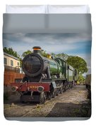 Print Of Gwr 6960 'raveningham Hall, Sits At Bishops Lydeard On  Duvet Cover