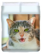 Priscilla A Cat Of My Mother Duvet Cover