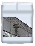 Prison Tower And Fence Duvet Cover