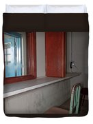 Prison Visitation Phones  Duvet Cover