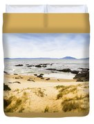 Pristine Beach Background Duvet Cover