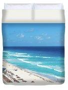 Pristine Beach In Cancun Duvet Cover