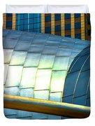 Pritzker Pavilion And Prudential Plaza Dsc2753 Duvet Cover