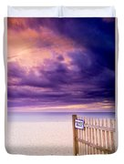 Private Beach Cape Cod Duvet Cover