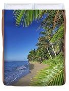 Private Molokai Beach Duvet Cover