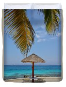 Private Palapa Duvet Cover