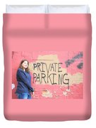 Private Parking. Duvet Cover