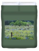 Private Property -wildflowers Of Texas. Duvet Cover