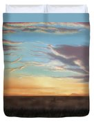 Private Sunrise.  Keep Out Duvet Cover
